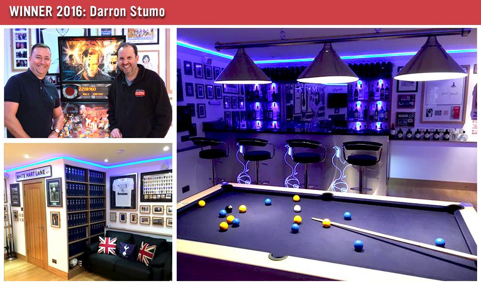 Games Room of the Year Winner 2016 - Darron Stumo
