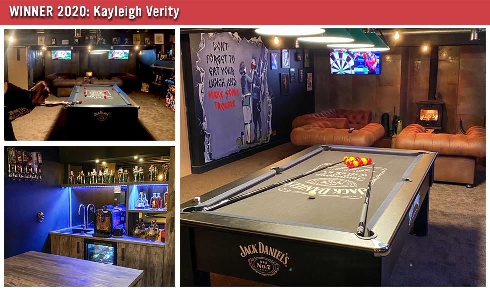 Games Room of the Year Winner 2020 - Kayleigh Verity