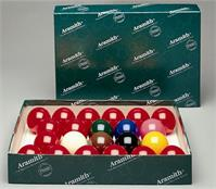 "2 1/16"" Aramith ""Full Size"" Snooker Balls - 15 Reds"