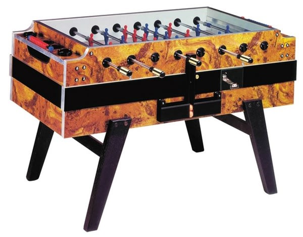 An image of Garlando Coperto Deluxe Football Table - Briar Wood Finish
