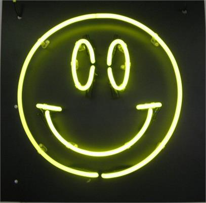 Custom Neon Signs: Example - Smiley Face