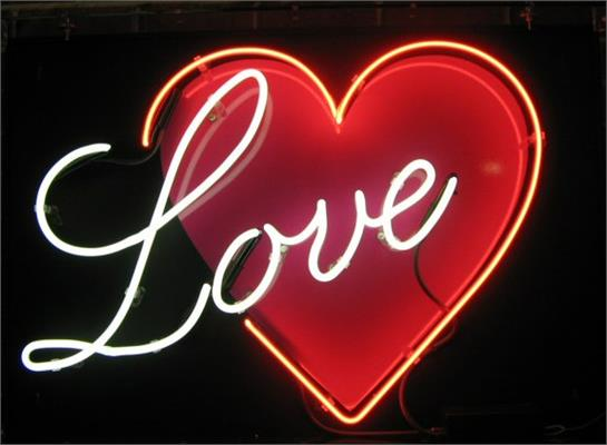 Custom Neon Signs: Example - Love