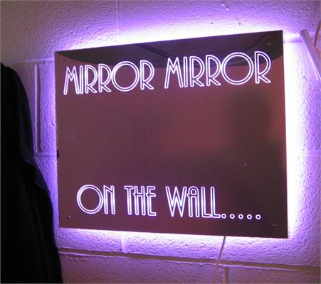 Mirror Box Neon Sign