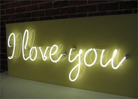 Custom Neon Signs: Example - I Love You