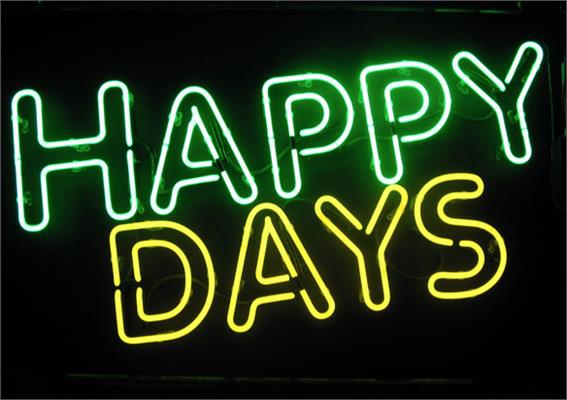 Custom Neon Signs: Example - Happy Days