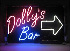 Custom Neon Signs: Example - Dolly's Bar