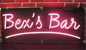 Custom Neon Signs: Example - Bex's Bar
