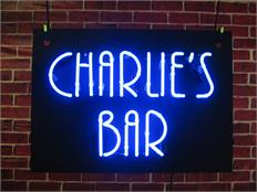 Charlie's Bar Neon Sign