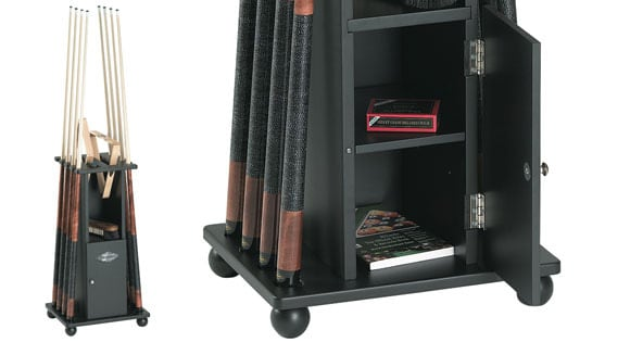 Brunswick Contender Floor Black Cue Rack