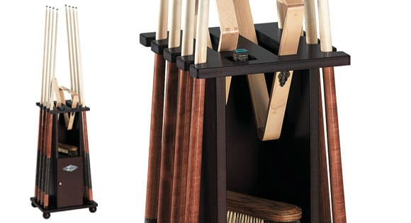 Brunswick Contender Floor Cherry Cue Rack