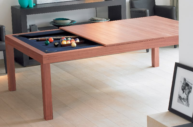 Aramith Fusion Pool Dining Table - Cherry Finish