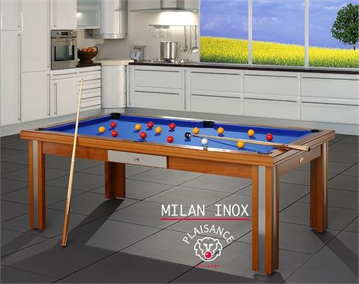 Billards Plaisance Milan Inox Prestige Pool Table - 6ft, 7ft