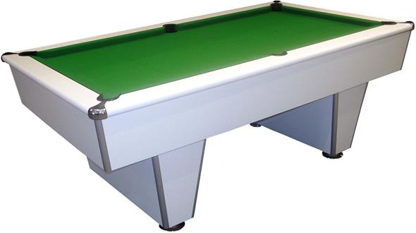 Signature Harvard American Pool Table: White - 7ft