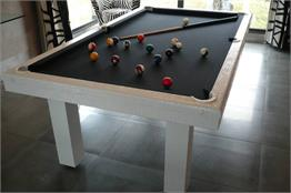 Toulet White Crocodile Pool Table - 7ft, 8ft, 9ft