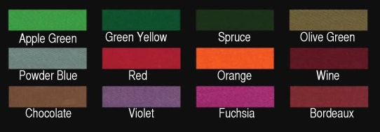 Toulet Blacklight Cloth Colours 2
