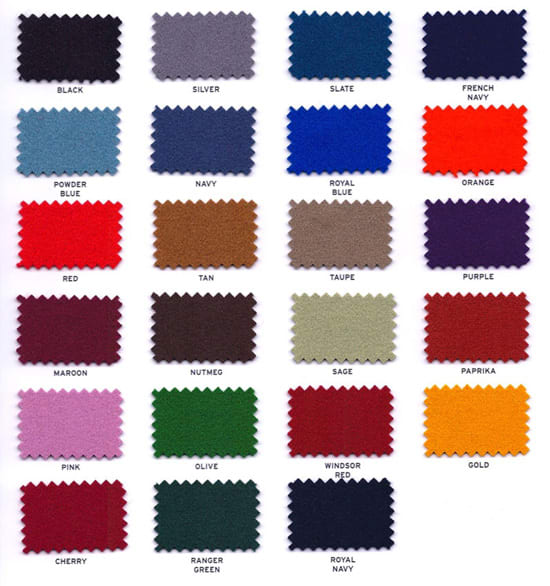 Simonis Cloth Colours