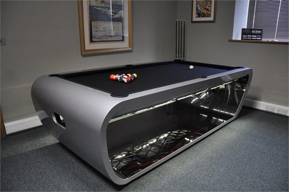 Toulet Blacklight Luxury Pool Tables - Slate Grey