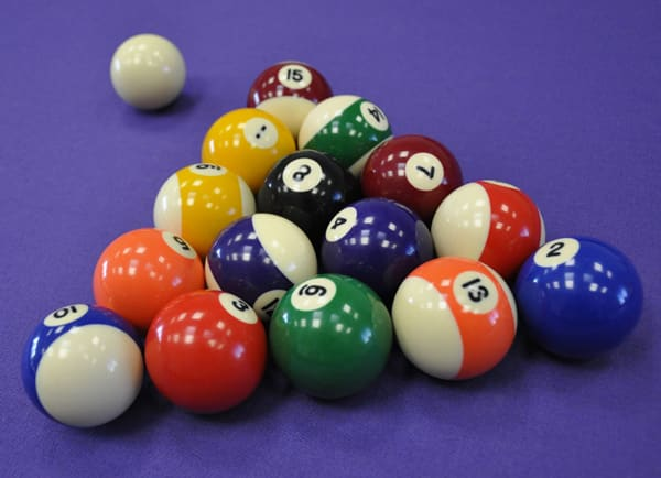 Spots and Stripes Pool Balls - Racked