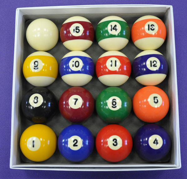 "An image of 2"" Spots and Stripes Pool Balls"