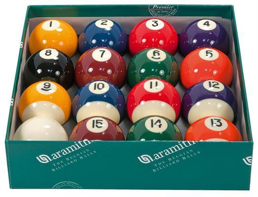 "2 1/16"" Aramith Spots and Stripes Pool Balls"