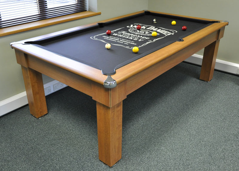 Signature Oxford Pool Table in Winchester Oak with Dining Tops