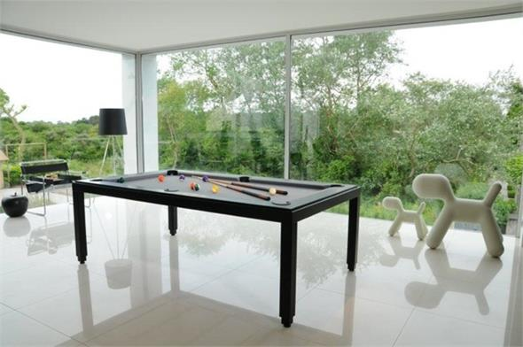 Aramith Fusion Black Pool Dining Table - 7.5ft