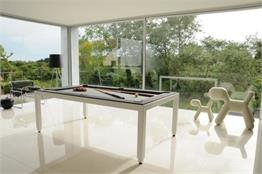Aramith Fusion White Pool Dining Table - 7.5ft