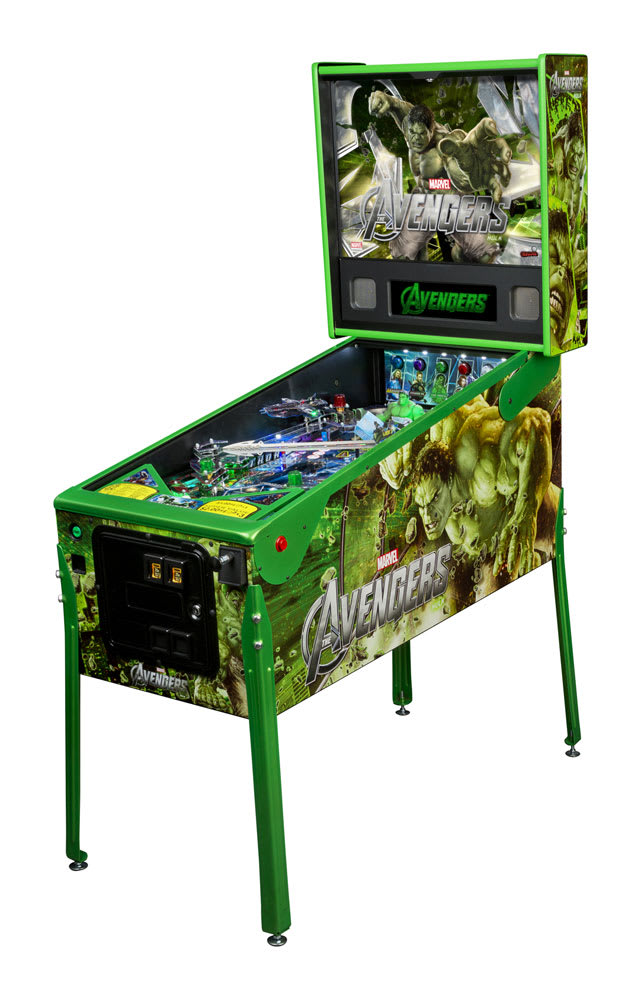 An image of Stern Avengers Limited Edition Hulk Pinball Machine