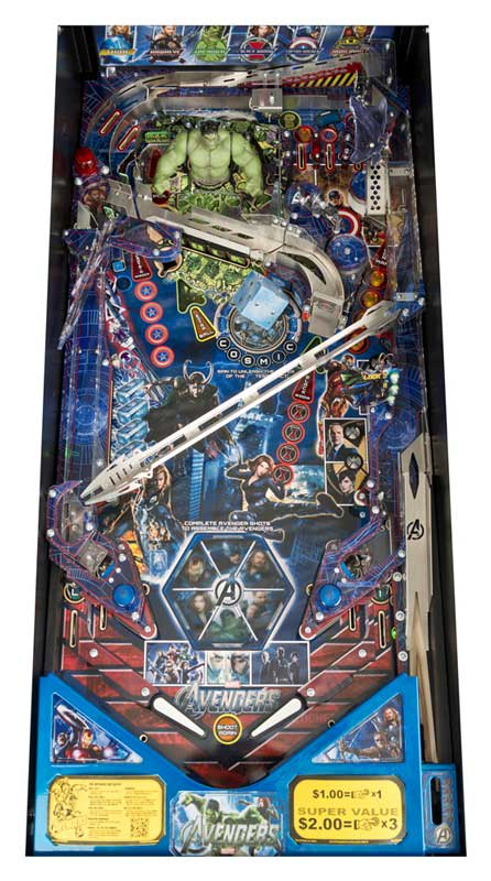 Avengers Limited Edition Pinball Machine - Playfield
