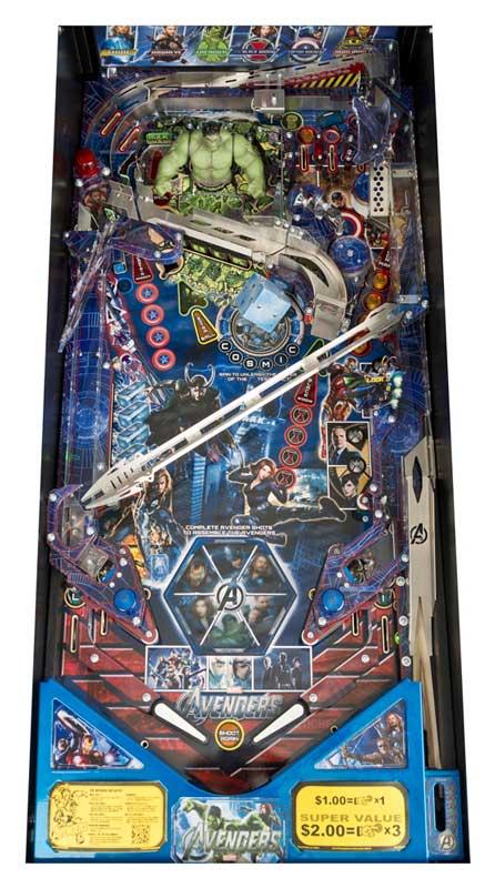 Avengers Limited Edition Pinball Machine - Playfield