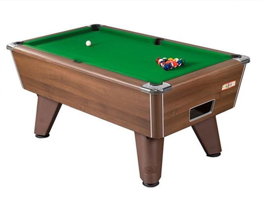 Supreme Winner Pool Table: Walnut - 6ft, 7ft