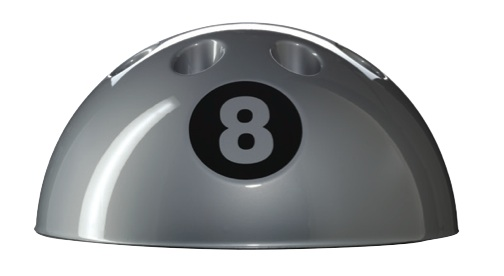 Sam Silver Eight Ball Cue Stand