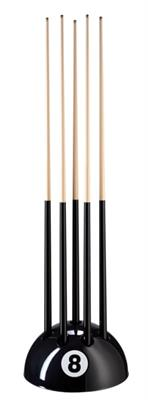 Eight Ball Black Floorstand - 9 Cues