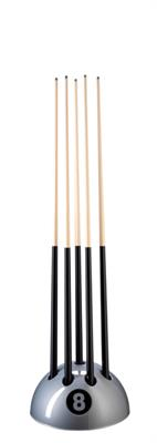 Eight Ball Silver Floorstand - 9 Cues