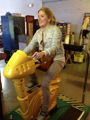 Michelle Riding Namco Prop Cycle