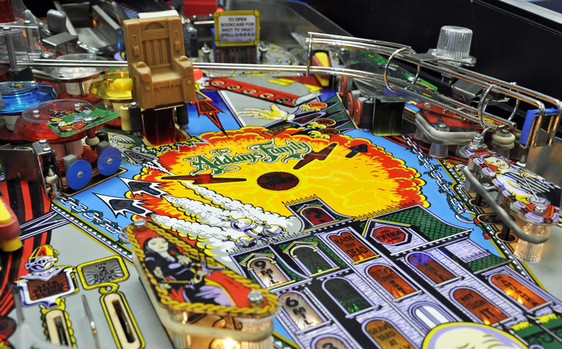 Addams Family Pinball Machine Playfield Close Up Home Leisure Direct Showroom
