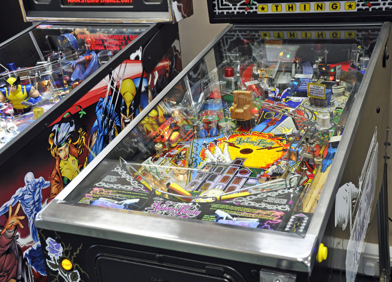 Addams Family Vintage Restored Pinball Machine for sale Playfield Home Leisure Direct Showroom
