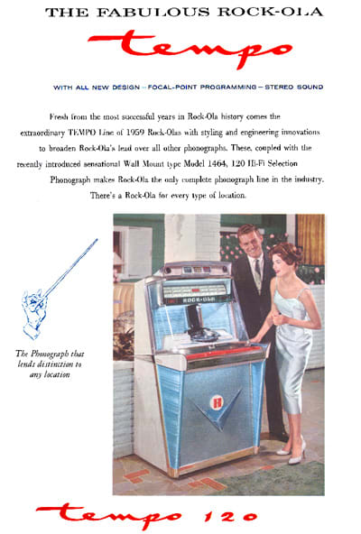 Rock-Ola 1468 Tempo 1 Jukebox - Brochure Page