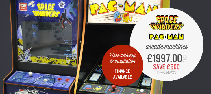 Space Invaders, Pac Man arcade machines! Only £1997 each, save £500