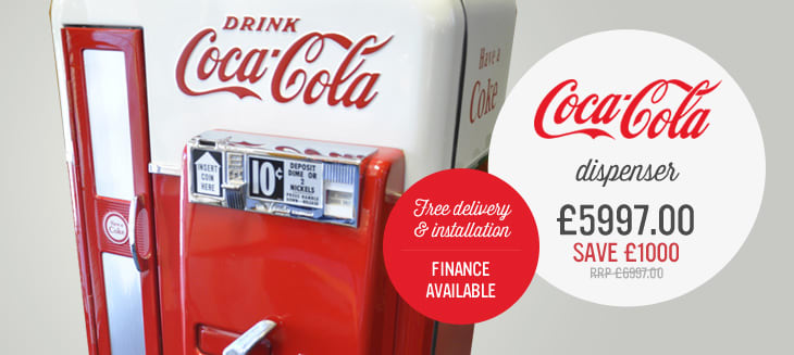 Coca-Cola dispenser £6997- save £1000