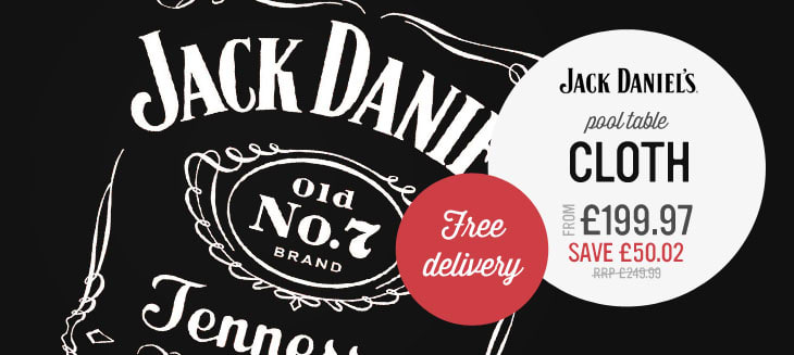 Jack Daniel's pool table cloth from only £199.97