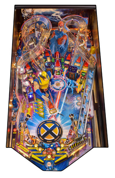 X-Men Wolverine Pinball Playfield