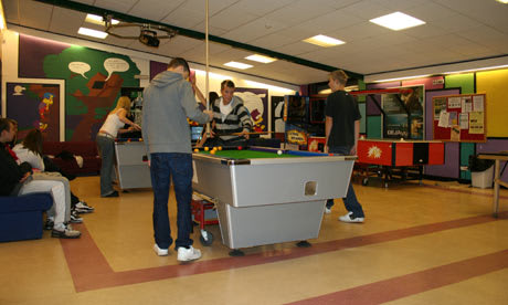 Tennagers Playing Pool - pool table for kids
