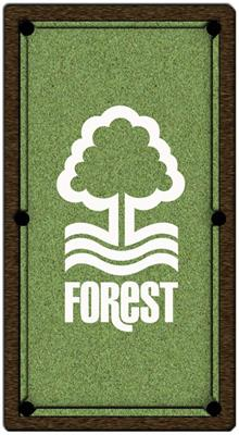 Nottingham Forest Pool Table Cloth - Design 2 - 6ft