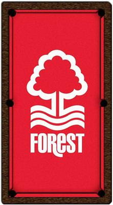 Nottingham Forest Pool Table Cloth - Design 1 - 8ft American