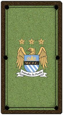 Manchester City Pool Table Cloth - Design 1 - 8ft English