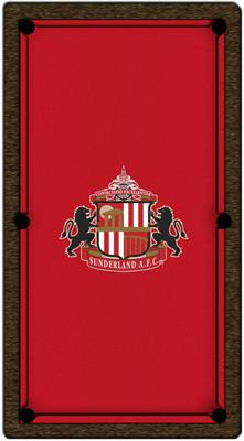 Sunderland Pool Table Cloth - Design 1 - 8ft American