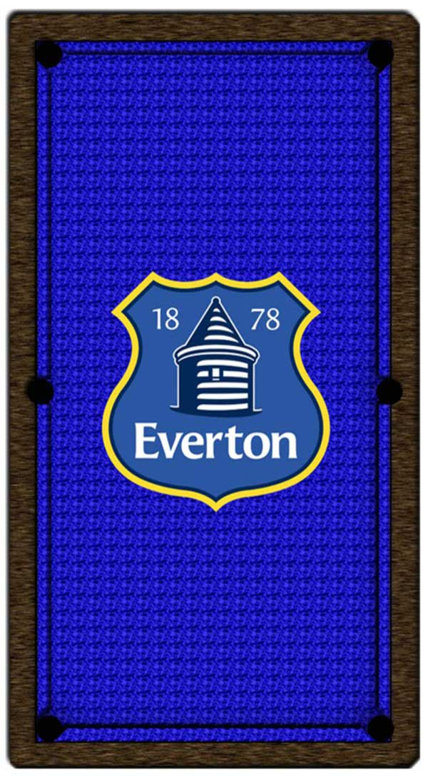 Everton Club Crest Pool Table Cloth
