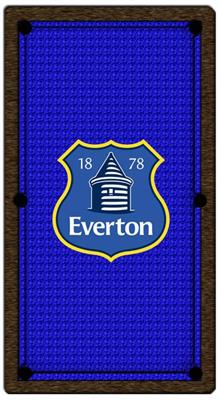 Everton Pool Table Cloth - Design 1 - 8ft English