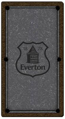 Everton Pool Table Cloth - Design 2 - 8ft English